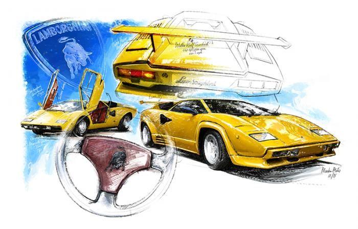 Lamborghini Countach - 1974 | Classiccar-art