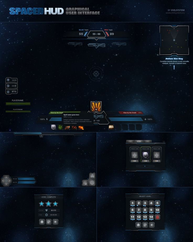 SpaceD HUD by Evil-S