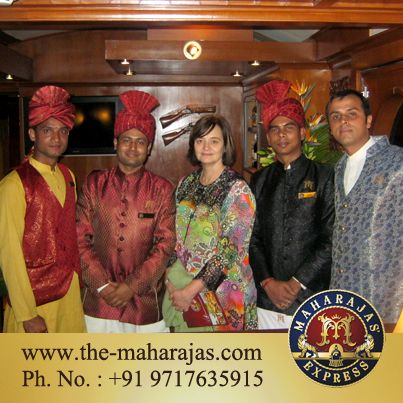 Cherie Blair wife of former UK #president Tony Blair visited Maharajas' Express to enjoy the luxury of the India's Leading luxury #train.  Visit : http://www.the-maharajas.com/ to know more