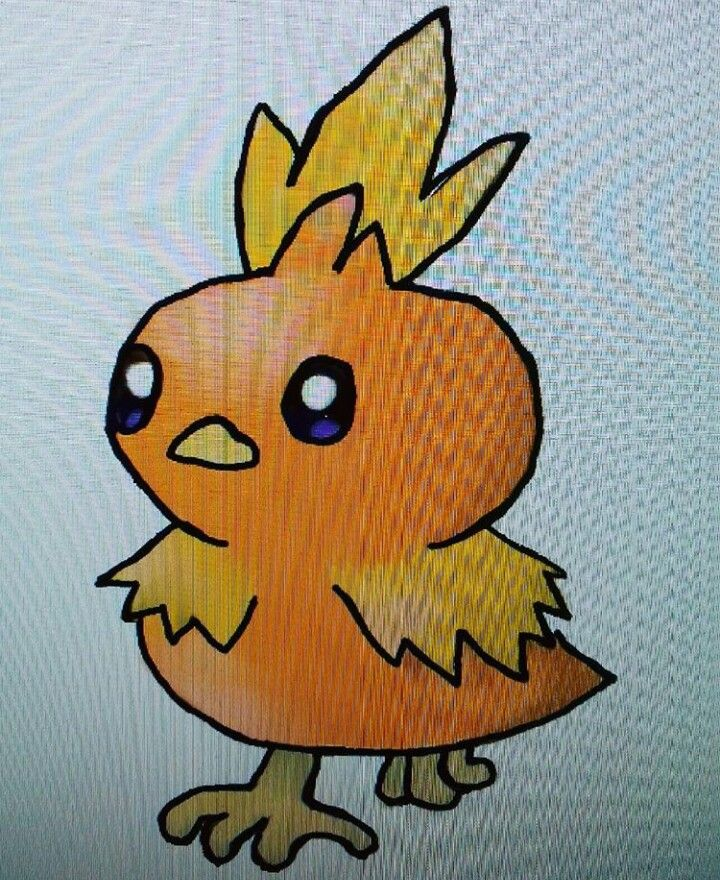 Torchic on my new graphics tablet