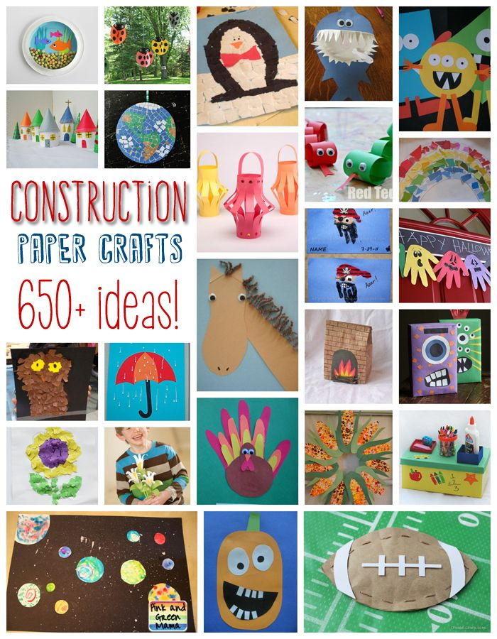 You read that right, over 650 crafts that use construction paper! It's crazy to think that there are that many,...