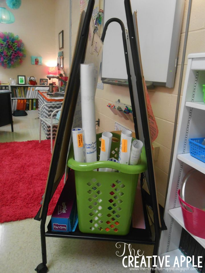 Anchor Chart Storage: use every small space in your classroom and organize your anchor charts!