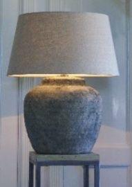 Stenen lampen exclusief kap