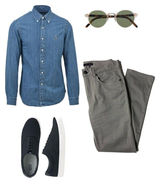 """""""Sin título #11"""" by angelaguirrem on Polyvore featuring Ralph Lauren, Oliver Peoples, Lords of Harlech, Uniqlo, men's fashion y menswear"""