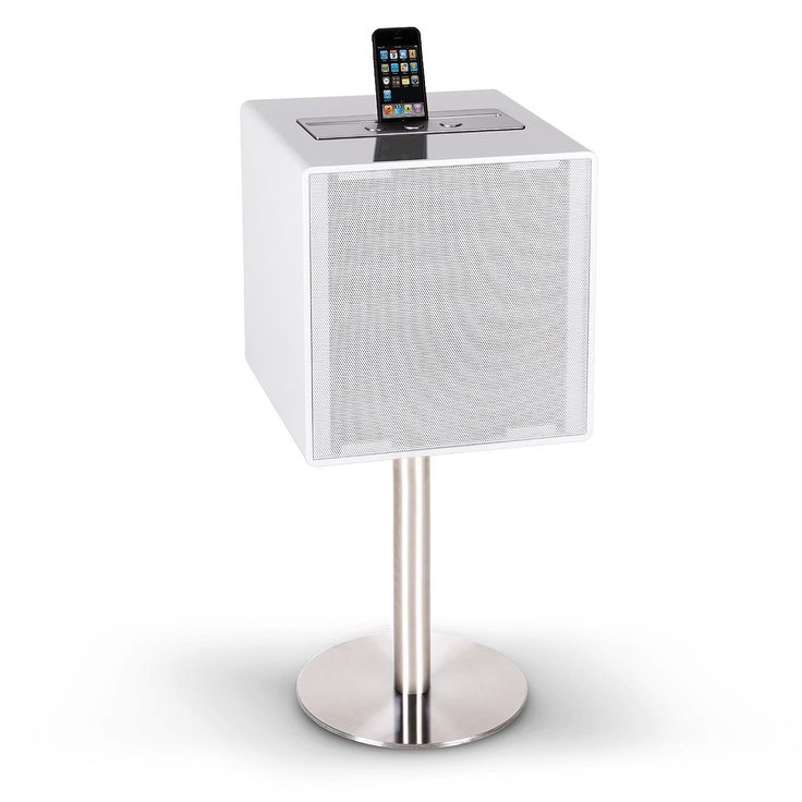 "ENCEINTE BLANCHE DESIGN LOUNGE HOME CINEMA HIFI HAUT PARLEUR 5"" BLUETOOTH USB"