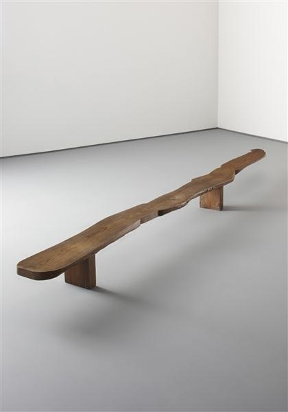 Pierre Jeanneret, Low Elm Console, 1942. This could look good on top of another table, but maybe a smaller version.