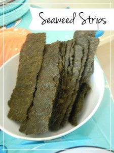 Seaweed Snacks for sea themed party