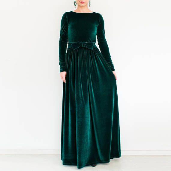 32++ Velvet long sleeve dress ideas in 2021
