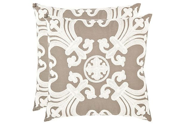 Set of 2 Collette 18x18 Pillows, Natural on OneKingsLane.com