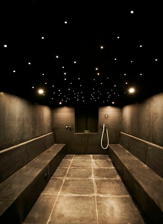 Steam room... taking my fella this evening. Fear allergic reaction and fluid on the lungs.  Allergy people!