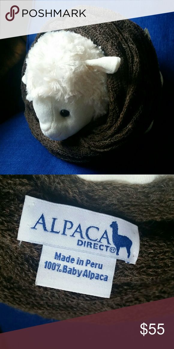 Vera 100% Baby Alpaca Knitted Infinty Scarf ☆SOLD OUT online☆. Luxurious soft, non-itchy, incredibly warm high quality. Made in Peru 100% Baby Aplaca wool. Comes from a none smoking home. Please feel free to ask questions. Alpaca Direct Accessories Scarves & Wraps