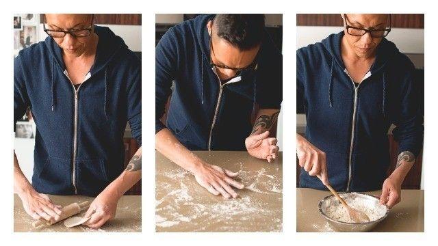 Prawn and dill flat pancakes