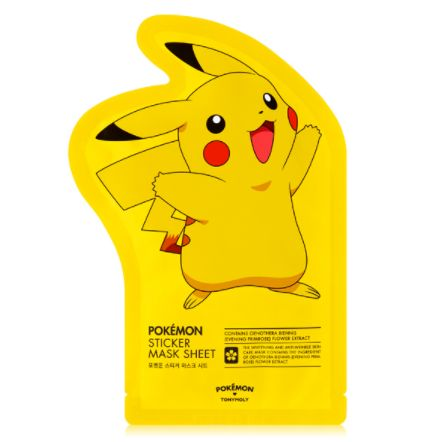 [TONYMOLY] Pokemon Sticker Mask Sheet (3 PCS) - Newtle