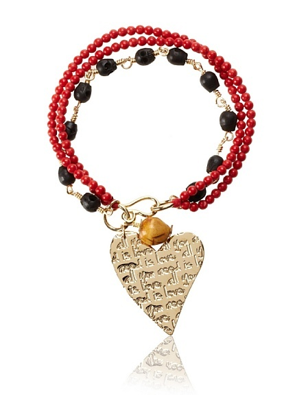 Mercedes Salazar Heart Charm Bracelet