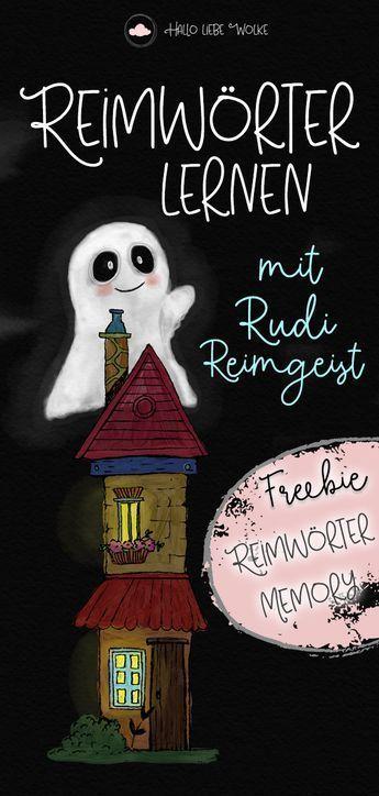 Reimwörter lernen mit Rudi Reimgeist (Lerngeschichte & Printable)