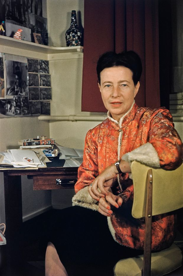 Simone de Beauvoir (c. 1955).