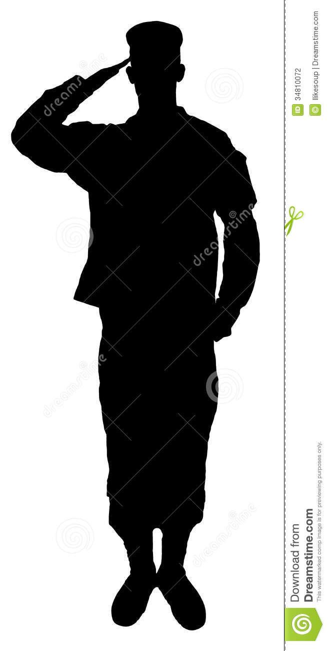Saluting Army Soldiers Silhouette Isolated On White Background Soldier Silhouette Silhouette Soldier Drawing