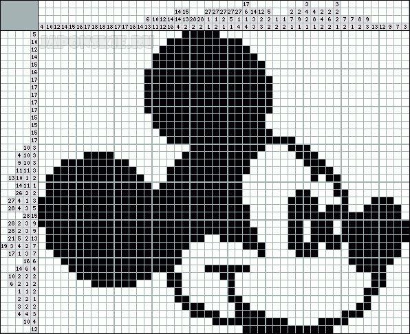 Výsledek obrázku pro malované křížovky - kódované obrázky