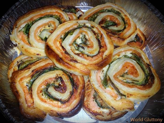 Smoked Salmon and Spinach Twirls