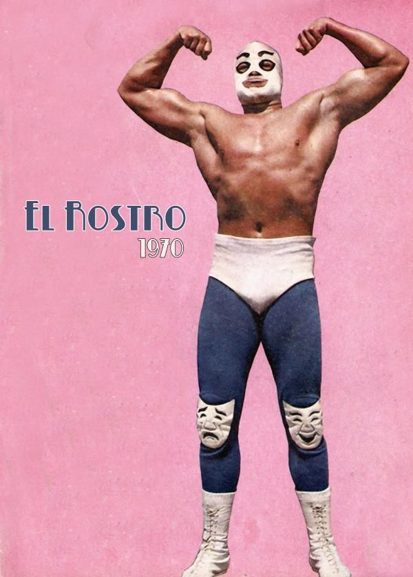 El Rostro - luchador. The model for several of the characters in Hat Dance, the second Emilia Cruz novel