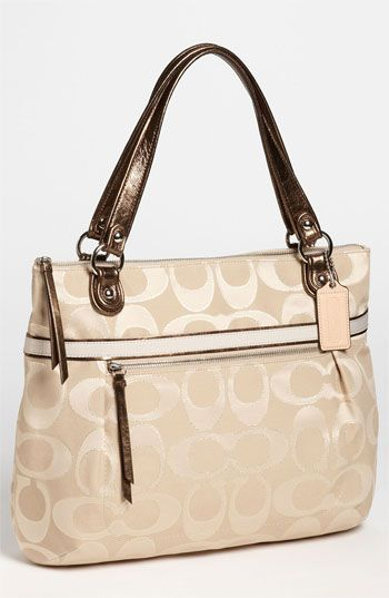 WHAT AM I DOING COACH 'Poppy Signature Sateen - Glam' Tote available at #Nordstrom