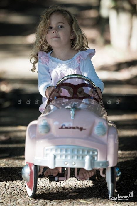 The little pink car - Our cute retro vintage car is available for location shoots and is suitable for children between the ages of 10 months to 7 years