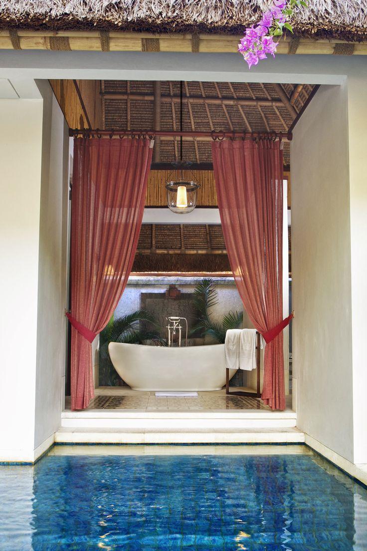Anjani Villa's bathtub from private pool view