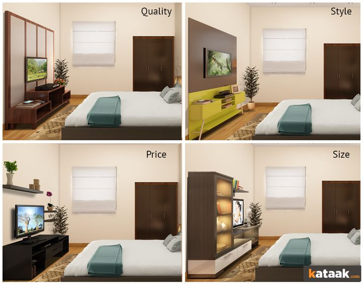 which tv unit looks best for your bedroom try all parameters from size style - Ly Design Your Bedroom