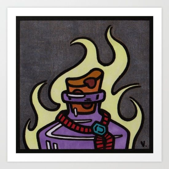 by Vernon Fourie | popart, pop art, illo, pen and ink, potion, magic