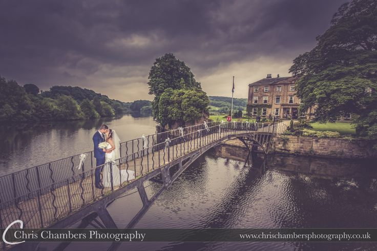 Waterton Park Wedding Photography   Waterton Park Wedding Photographer   http://www.chrischambersphotography.co.uk The bride and groom sharing a moment on Waterton Park's bridge.