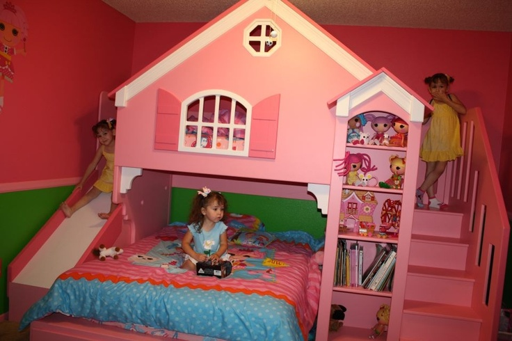 Princess Toys Box Storage Kids Girls Chest Bedroom Clothes: Lifesized #Lalaloopsy Bed / Dollhouse!