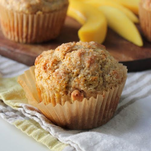 These gently spiced mango muffins are a great healthy breakfast treat, or toast them up with some butter and a cup of tea for a mid-week snack.
