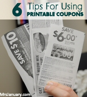 6 Tips For Using Printable Coupons in Canada via MrsJanuary.com #extremecouponing