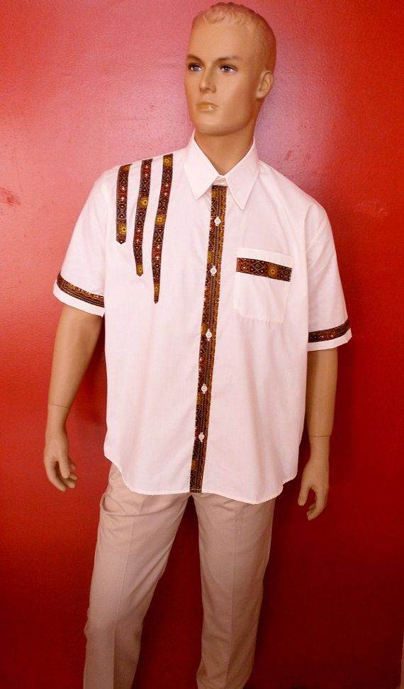So colored art shirt dashiki for men gentlemen by SoColoredFashion
