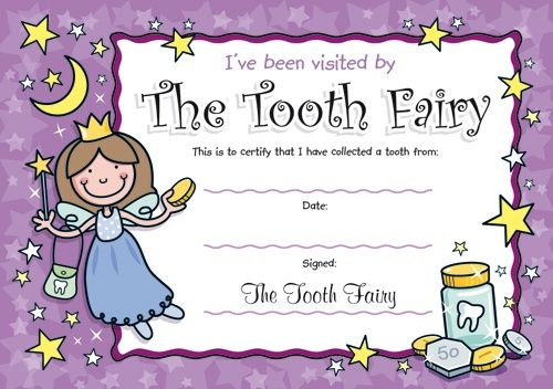 Tooth+Fairy+Ideas+For+Girls | TOOTH FAIRY CERTIFICATES