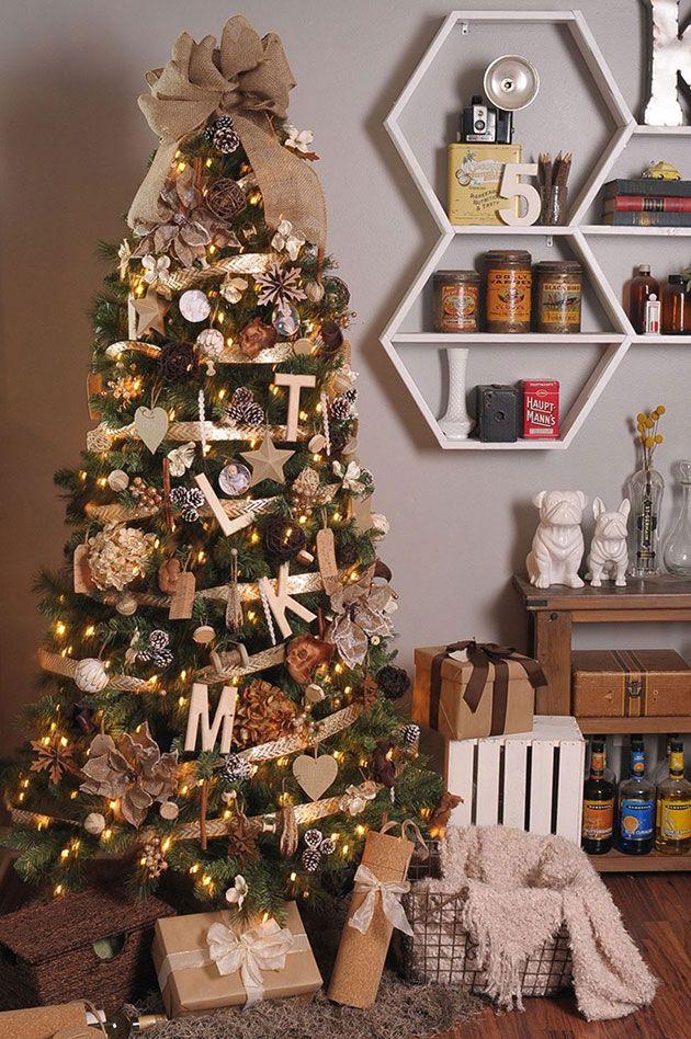 Cómo Poner La Cinta En El árbol De Navidad 10 Ideas Magníficas Decoracion Arbol De Navidad árboles De Navidad Decorados Cinta De árbol De Navidad