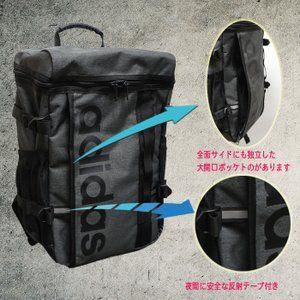 Photo of YC59032 adidas rucksack adidas school bag commuting school * black with adidasb big logo