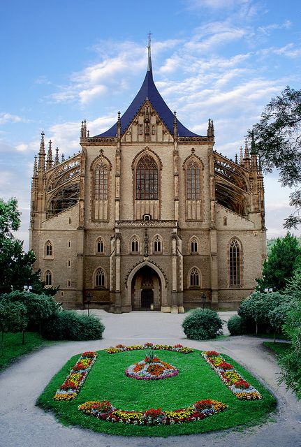 Kutná Hora, Czech Republic  Saint Barbara Cathedral, the second largest in Czech Republic.  The Smisek chapel is inside of here!