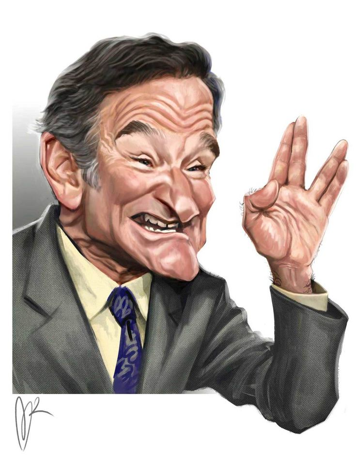 Robin Williams Caricature by Marzio Mariani. #Celebrity #Caricatures #Oddonkey                                                                                                                                                     More