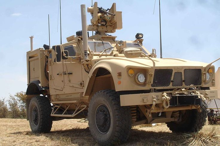 The MRAP All-Terrain Vehicle (M-ATV) has seating for four plus a gunner who operates an unmanned turret.