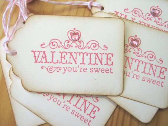 <3: Vintage Valentines, Gifts Cards, Gifts Ideas, Valentines Tags, Pink Valentines, Sweet Gifts, Sweet Pink, Valentines Gifts, Gifts Tags