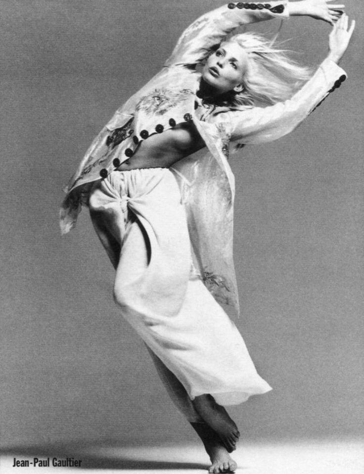 "a-state-of-bliss: "" Neiman Marcus 1994 - Nadja Auermann wearing Jean Paul Gaultier by Richard Avedon """