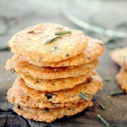Rosemary Parmesan Crackers
