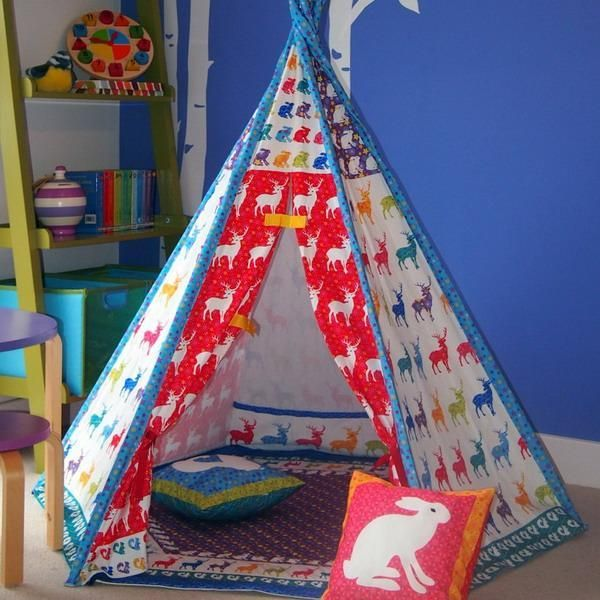Wigwam Tents Blending Kids Playroom Ideas into Cozy Children Bedroom Decorating & 244 best play tents and wigwams images on Pinterest | Play tents ...