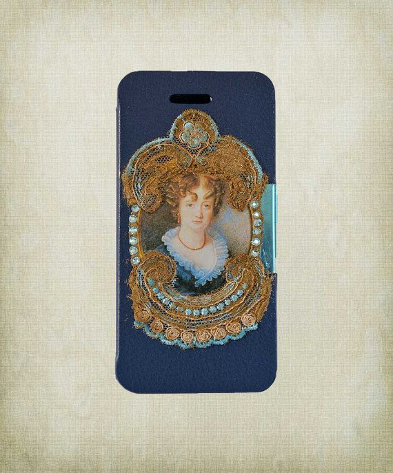 Victorian iPhone 5 Case with Lace  Blue by ShabbyChicToVintage, $56.00