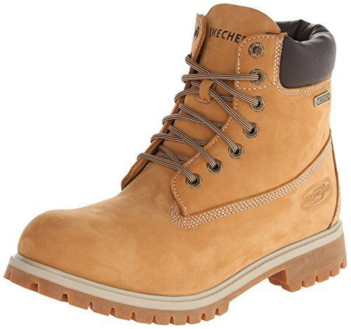 Skechers Mens Rawling Dorson Casual Waterproof Boot Wheat 12 M US >>> Check out this great product.
