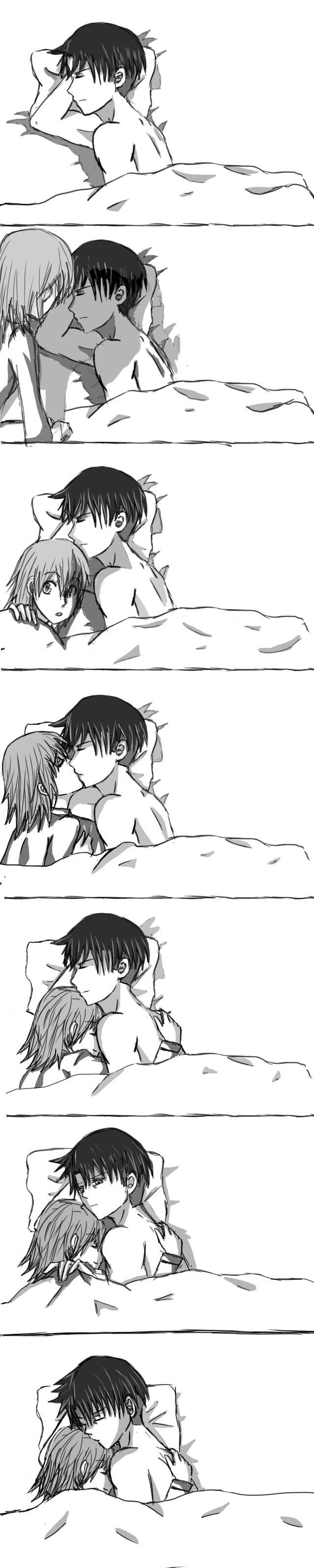 Levi and Petra: Bedtime by AshesNewMoon.deviantart.com on @deviantART