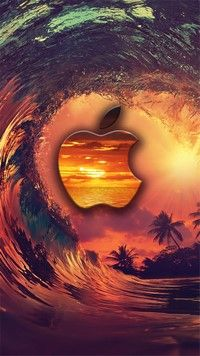 iPhone 7 Wallpapers Apple #Surf is an incredible #sunset #surfing wallpaper for iPhone 7 devices