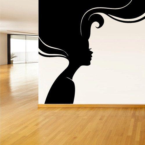 Wall Decals Decor Art Mural Sticker Girl Sexy Hairs Head Bedroom Design Gift Salon (z2202)