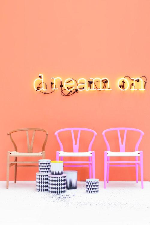 #neon #typography #wishbone #hanswegner